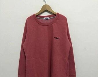 20% OFF Vintage Fila Embroidery Logo Women Pullover/Fila Sweater/Casual Clothing/Fila Sport Sweater/Fila Italia