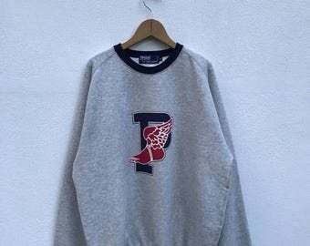 """20% OFF Vintage Polo P-Wing by Ralph Lauren Sweatshirt Excellent Condition Armpit 24"""" / Polo Bear / Polo Stadium / Rl-92"""