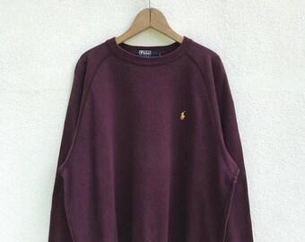 "20% OFF Vintage Polo Ralph Lauren Small Pony Sweatshirt / Ralph Lauren Pullover / Armpit 24"" / Polo Sport / RL 67 / Polo Ralph Lauren"