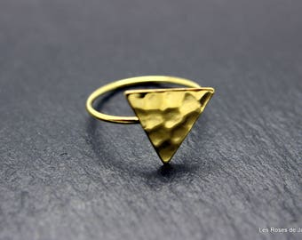 triangle ring gold size 53, ring