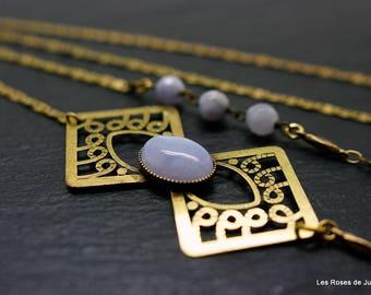 Long necklace art deco, art deco necklace
