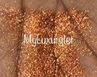 Copper Reflects Glitter Stay Put Fix Glue Eye Shadow Loose Eyeshadow Birthday Anniversary Wedding Bachelorette Glittering Coppery Pigment 3g