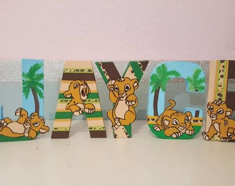 Baby lion King theme letters (Price PER letter)