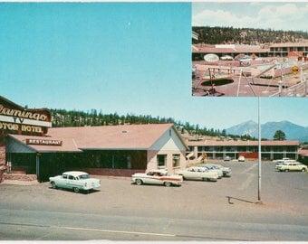 Flamingo Motor Hotel  Flagstaff Arizona   Vintage Color Postcard