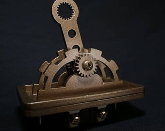 Steampunk Light switch in plain color ( Bronze)