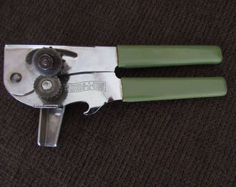 Vintage Swing-A-Way 75 Avocado Green Can Bottle Opener Free Shipping