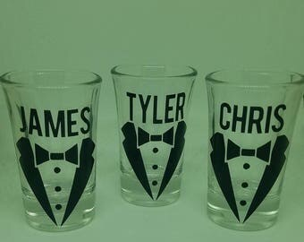 Personalized Tuxedo Shot Glass