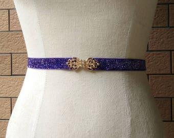 5/8 inch Plum belt,Elastic belt,Stretch Belt,Cinch BeltWaist belt, Elastic waist belt,Waist belt -285