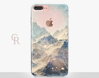 Mountains iPhone 8 Plus Case - Clear Case - For iPhone 8 - iPhone X - iPhone 7 Plus - iPhone 6 - iPhone 6S - iPhone SE Transparent Samsung
