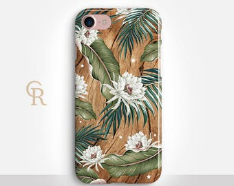 Floral iPhone 7 Case For iPhone 8 iPhone 8 Plus - iPhone X - iPhone 7 Plus - iPhone 6 - iPhone 6S - iPhone SE - Samsung S8 - iPhone 5