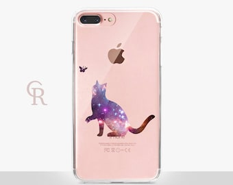 Cat iPhone X Case - Clear Case - For iPhone 8 - iPhone X - iPhone 7 Plus - iPhone 6 - iPhone 6S - iPhone SE Transparent - Samsung S8 Plus