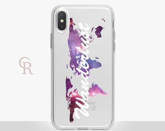 Wanderlust iPhone X Clear Case For iPhone 8 iPhone 8 Plus - iPhone X - iPhone 7 Plus - iPhone 6 - iPhone 6S - iPhone SE  Samsung S8 iPhone 5