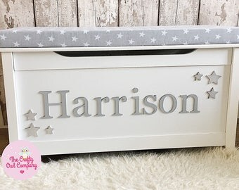 Personalised toy box with cushion larger size