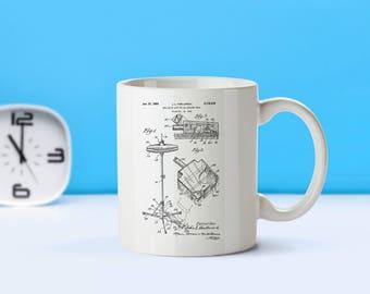 Hi Hat Cymbal patent mug - coffee mug - coffee lover - patent art - patent mug - Musician Gift- Music Room Decor- Musical Instruments-M205