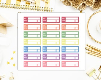 40% OFF SALE Bill Due Stickers, Bill Due Planner Stickers, Functional Planner Stickers – Will Fit Any Planner– 0751