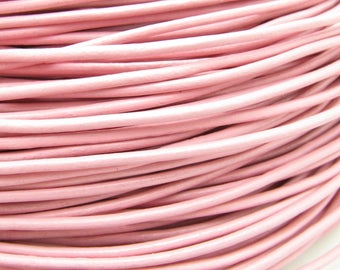 1 meter cord leather pink 2mm thick