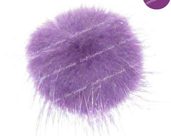 Plum colored mink fur ball