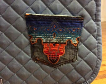 Anik denim saddle pad