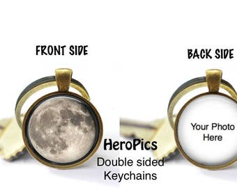 Double-Sided Moon Key Chain & Necklaces