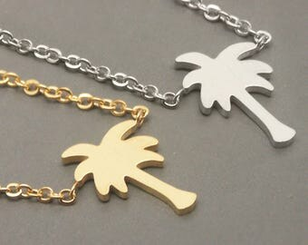 Palm Tree Necklace, Palm Necklace, Birthday Gift, Everyday Necklace, Anniversary Necklace, Graduation Necklace, Bridesmaid Necklace NB879