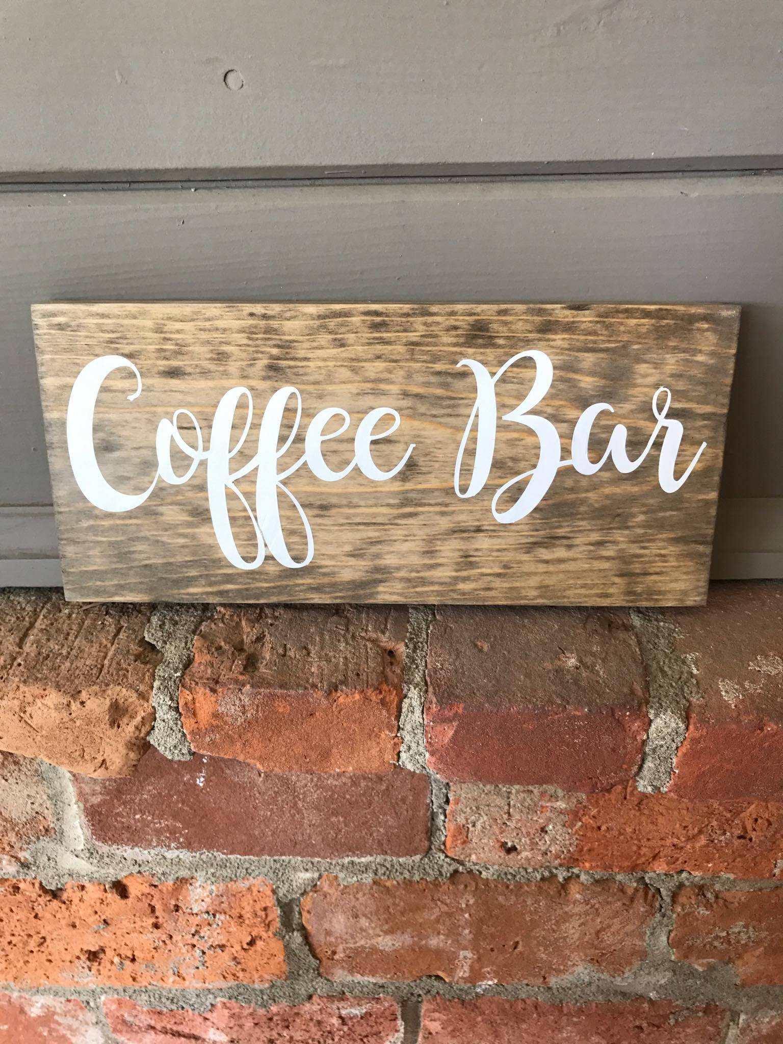 Coffee Bar Wood Sign Wooden Sign Coffee Wood Sign