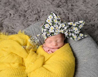 DAISY LOVE Gorgeous Wrap- headwrap; fabric head wrap; floral head wrap; boho; newborn headband; baby headband; toddler headband