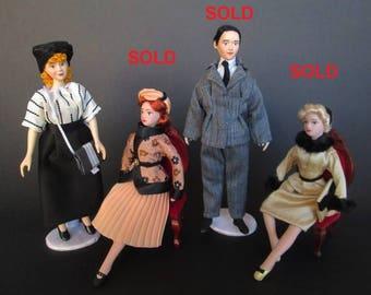 Miniature handmade doll of 1940/1950 in 1:12 scale for dollhouse by Paola&Sara Miniature - Dolls, dollshouse, 1/12