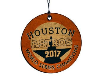 Astros World Series Ornament, Houston, Texas, Wood Baseball Ornament , First Time Champion