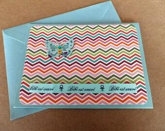 Hand made birth card