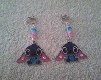Stitch clip earring
