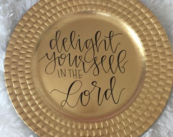 Delight - Gold Plate