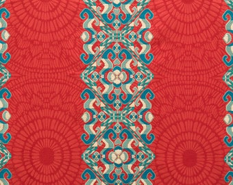 BEACON HILL AMMOLITE Emblems Embroidered Fabric 10 Yards Coral