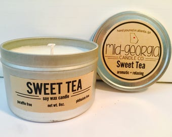 Sweet Tea Soy Candle Tin 8oz.