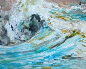 Wave - Original Artwork - Acrylic Painting. Wave - Original artwork - original acrylic painting.