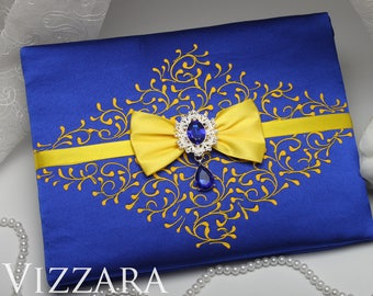 Guest Book Royal Blue Wedding Ideas Personalized And Yellow