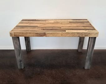 Reclaimed Wood Modern Rustic Desk Work Table Laptop Station Small Dorm  Large Office Pretty Or Industrial
