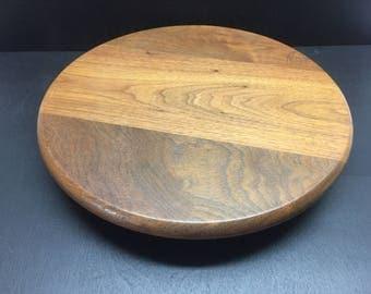 SALE / Berea College Crafts Lazy Susan / Solid Wood / Berea Kentucky