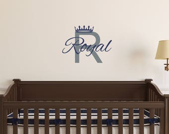 Prince Name Decal Etsy - Personalized custom vinyl wall decals for nurserypersonalized vinyl etsy