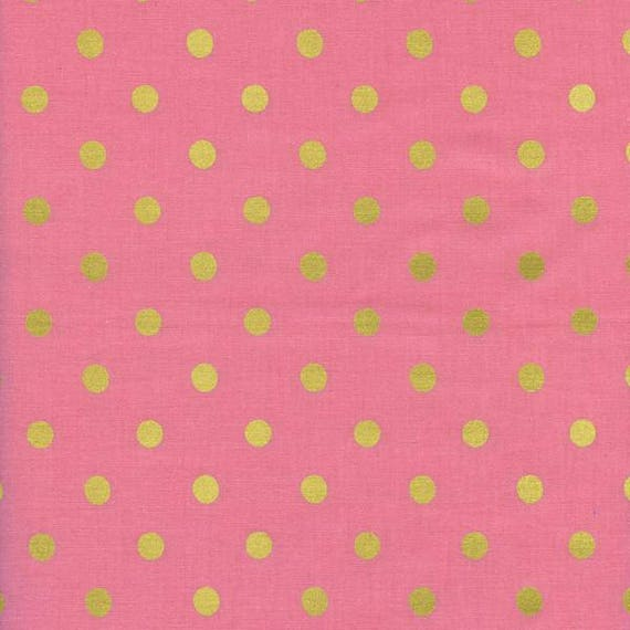 Boppy Cover >> Rifle Paper Co. Wonderland Dots in Pink Metallic > Boppy Newborn Lounger Nursing Pillow > MADE-to-ORDER pink dot boppy, gold