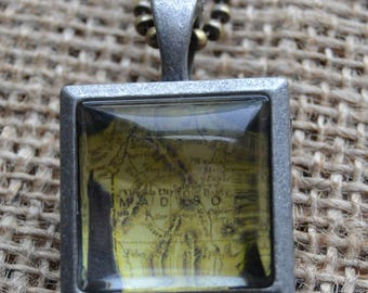 Silver Locket with Madison County MT