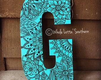 Wood Letter G Doorhanger