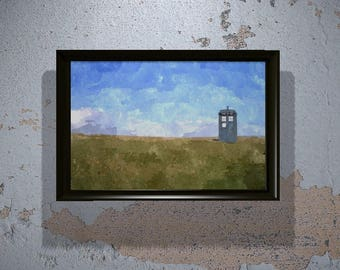 Doctor Who Tardis on Field (Instant Download) - Printable
