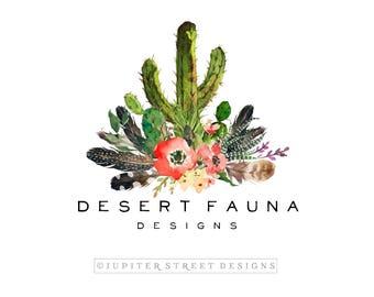 Logo Design-Cactus Logo-Feather Logo-Photography Logo-Small Business Logo