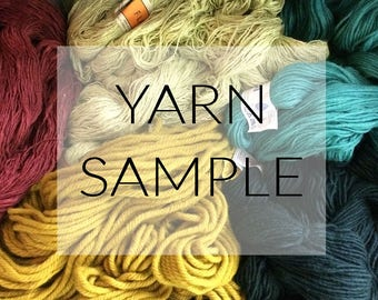 yarn sample | receive a postcard with a small sample of the yarns used for the wall hanging you're interested in