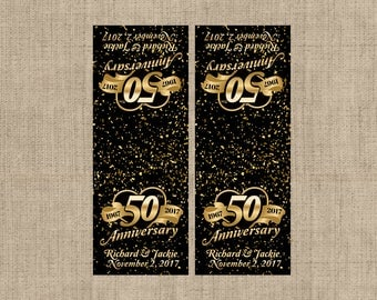 50th Anniversary Tic Tac Label, Mint To Be Tic Tac Favors, Anniversary, Golden Anniversary, Tic Tac Birthday Labels, Birthday Decor