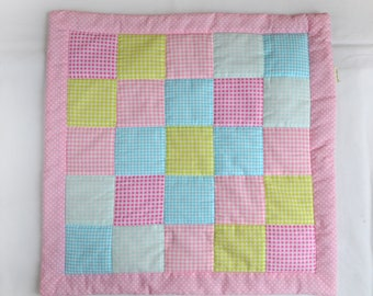 "Doll Quilt measuring 19""x19"" (48cm x48cm)"