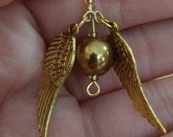 Golden Snitch Quidditch Harry Potter Earrings