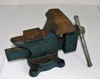 Sears 3 1/2 Swivel Vise Vintage & Very Nice Made In USA