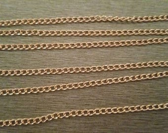 1 m metal mesh chain rose gold 4mm x 2, 8mm