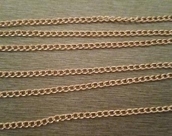 1 m metal mesh chain rose gold 4mm x 2, 8mm